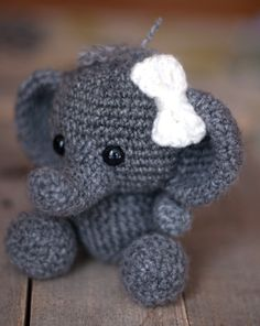 ******PLEASE NOTE: THIS IS A DIGITAL CROCHET PATTERN, NOT THE FINISHED ANIMAL******  Create your own adorable little elephant in just a few hours! This super simple pattern includes one PDF file with detailed instructions on how to crochet and assemble all the parts to make this elephant. Only basic crocheting skills will be needed to make this pattern: chain, single crochet, increasing and decreasing. Difficulty: Easy  Materials needed will be: a crochet hook size G/4.00mm worsted weight…