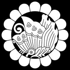 Japanese Kamon Japanese Patterns, Japanese Design, Japanese Art, Japanese Family Crest, Japan Tourism, Asian Fabric, Gourd Art, Panel Art, Coat Of Arms