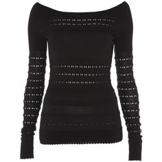 Temperley London Canterbury Jumper (2 205 SEK) ❤ liked on Polyvore featuring tops, sweaters, shirts, blusas, black, rayon tops, layering shirts, scalloped top, black top and layered tops