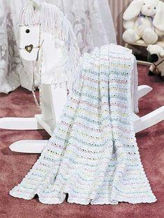 Sweet Dreams Baby Afghan Skill level: Intermediate  Free pattern Designed by Melissa Leapman