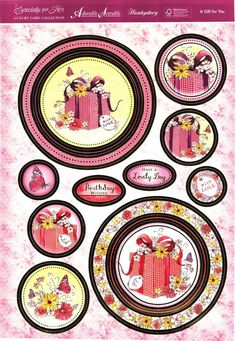 Hunkydory Especially for Her die cut toppers & card - A Gift for You