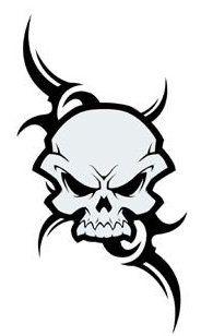 15 Facts About Henna Tattoo Tribal Designs Skull That Will Blow Your Mind Evil Skull Tattoo, Skull Tattoo Design, Tribal Tattoo Designs, Skull Design, Skull Tattoos, Wing Tattoos, Sleeve Tattoos, Skull Stencil, Skull Art