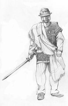La guerre des Gaules: guerrier gaulois - gallic warrior