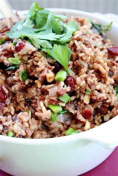 Thanksgiving - Wild Rice Stuffing w Hazelnuts & Dried Cranberries More