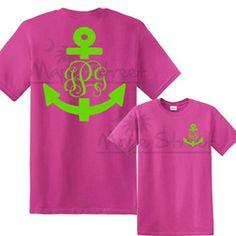 Anchor Monogram T' Shirt
