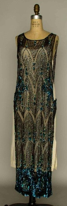 sequinned tabard art deco dress 1920s