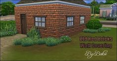Mod The Sims - Old Red Bricks Wall Covering in 2 colors