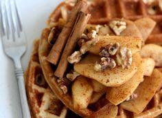 Cinnamon Apple Waffles   #ParksandRec