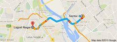 From: Sector 4, Noida, Uttar Pradesh To: Lajpat Nagar, New Delhi, Delhi