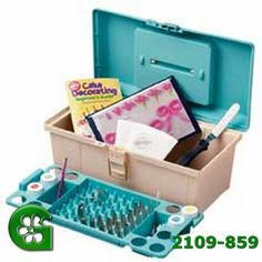 Wilton 50 Piece Cake Decorting Kit Professional Tool Caddy With Icing Bags Tips >>> Startling big discounts available here : Baking desserts tools Wilton Cake Decorating, Cake Decorating Supplies, Cake Decorating Techniques, Baking Supplies, Baking Tools, Decorating Tips, Cake Supplies, Cookie Decorating, Ideas