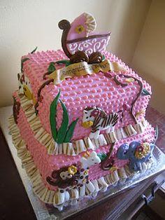Safari Baby Shower Cake ~ so adorable!
