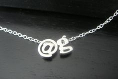 Lowercase Initial and  sign Necklace Alphabet by ElegantSwan, $25.75