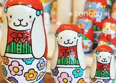 - Matryoshka - Rabbit Nesting Dolls