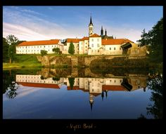 - Cloister Vyssi Brod III - by UNexperienced on DeviantArt Czech Republic, Prague, Amazing Places, The Good Place, Deviantart, Mansions, House Styles, Bohemia, Manor Houses