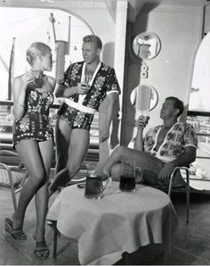 Aboard the SS Monterey in the 1950s.