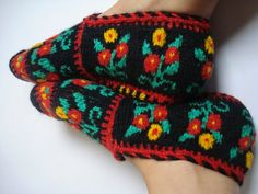 Colorful Turkish Knitted Slippers