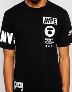 Image 3 of AAPE By A Bathing Ape T-Shirt With Sleeve Print