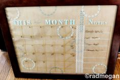 DIY Dry Erase Board and Calendar with Martha Stewart Glass Paints – Radmegan – Dry Erase Calendar İdeas. Dry Erase Calendar, Diy Calendar, Calendar Board, Easy Crochet Projects, Diy Projects, Project Ideas, Craft Ideas, Family Command Center, Stained Glass Paint