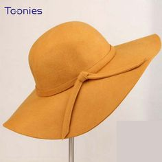 Cheap hat ear, Buy Quality hats for all seasons directly from China hat purple Suppliers: British Style Summer Hats for Women Ladies Wave Wide Brim Woolen Cap Vintage Women's Hat with Bowknot Chapeu feminino 11 Colors