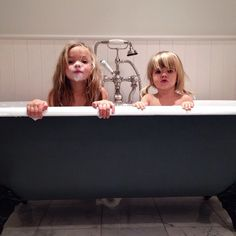 Marlow got her cast off (!!) so we're celebrating with a good soak in the bath (and bu... | Use Instagram online! Websta is the Best Instagram Web Viewer!