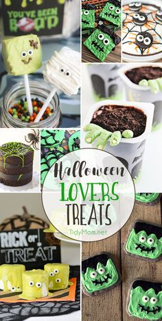 Halloween Lovers Treats are spooky, fun, creepy, and crawly Great for parties or trick-or-treat! Halloween Goodies, Halloween Desserts, Halloween Cupcakes, Halloween Treats, Spooky Treats, Halloween Tutorial, Easy Halloween, Holidays Halloween, Halloween Party