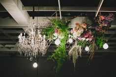 Hanging Florals - Doltone House Darling Island Wharf www.doltonehouse.com.au #weddings #flowers #starcloth #pretty #floral #bridal #styling #hangingflorals
