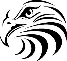 """Eagle Face is (24"""" x 24"""" ) ready to be used for T-shirts, stickers, printed designs, plasma, waterjet, wood engraving, and many more uses."""