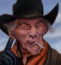 Jack Palance by jonesmac Cartoon Faces, Funny Faces, Cartoon Drawings, Cartoon Art, Cartoon Characters, Caricature Artist, Caricature Drawing, Funny Caricatures, Celebrity Caricatures