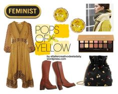 """""""Pops of yellow"""" by eladaily on Polyvore featuring Mulberry, Ulla Johnson and Anastasia Beverly Hills"""