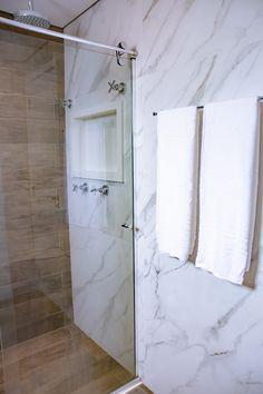Exterior, Bathroom, Ideas, Design, Home Decor, Small Shower Bathroom, Small Apartment Bathrooms, Condo Bathroom, Plank Wall Bathroom
