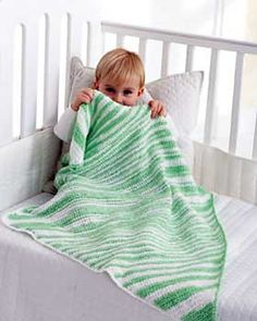 Green crochet blanket. I need to try a diagonal start
