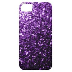 Trendy Beautiful Purple sparkles look iPhone 5/5S Case by PLdesign