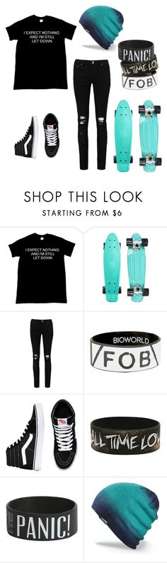 """""""Never expect to much"""" by awesomegoldfish ❤ liked on Polyvore featuring Boohoo, Hot Topic, Vans and Dakine"""
