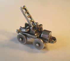 Vintage Sterling Fire Engine Truck Silver Charm Moveable Crank Ladder | eBay 30