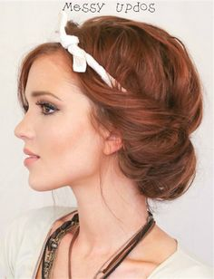 You Woke Up Like This: 16 Messy Updos--Learn more best #Hairstyle in Pinterest with #Besthairbuy