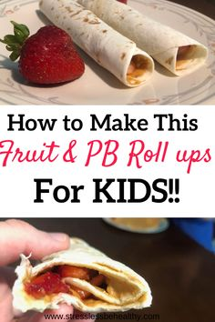 Your kids will love these pb&j roll ups with real strawberries and peanut butter for protein! An easy and healthy kid snack for anytime, or a mini meal for your never-stop-eating kids! Healthy Kids Snacks For School, Easy Snacks For Kids, Kid Snacks, Eating Fast, Stop Eating, Strawberry Roll Ups, Chia Smoothie Recipe, Roll Ups Recipes, Peanut Butter Roll