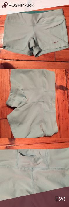 Nike dry fit workout shorts EUC.. Size xs , fits about a 24 inch waist .. Super cute , worn once Nike Other
