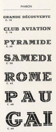 Pharaon Exemple, Pharaon, n° 11. Deberny & Peignot
