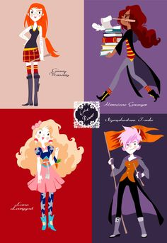 Strong and beautiful girls of HP