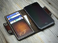 This leather iPhone wallet case is designed for be as practical as possible at every occasion. A truly revolutionary iPhone holder, very practical, small and functional! You can choose your device from the selection before order, I make the case that fits snugly to it. The plastic case is