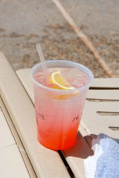 Waterslide splash:  raspberry vodka, citrus twist vodka, lemonade and grenadine :)