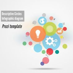 Dots Prezi Template  D Background And Template