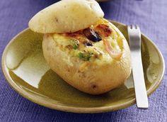 Pomme de terre farcie au jambon & brie #DanOn #recette