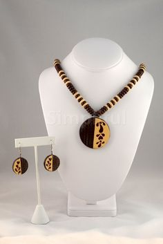 Terracotta Half n Half Necklace and Earring Set