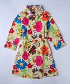 Green Floral Shirt Dress - Kids & Tween #zulily #zulilyfinds
