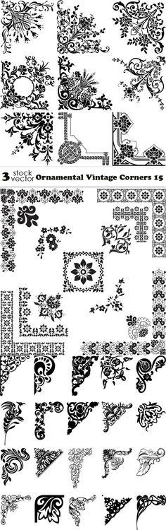 Vectors - Ornamental Vintage Corners 15