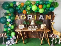 DIY HIRE CLIENT PHOTO Adrian turns One!We love how our client Amy used inspiration from our jungle party and made it her own. Safari Theme Birthday, Boys First Birthday Party Ideas, Jungle Theme Parties, Wild One Birthday Party, Safari Birthday Party, Baby Boy 1st Birthday, Boy Birthday Parties, Lion King Birthday, Jungle Theme Baby Shower