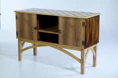 A Macassar ebony veneered sideboard built by a student while completing the nine-month course at The Chippendale School of Furniture in Scotland.