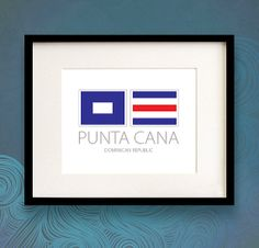 Punta Cana  Dominican Republic  Nautical Flag by NauticalFlagShop, $18.00