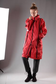 FINAL HOME - Classic Unisex 'Final Home' Raincoat In Nylon Canvas :: Ivo Milan